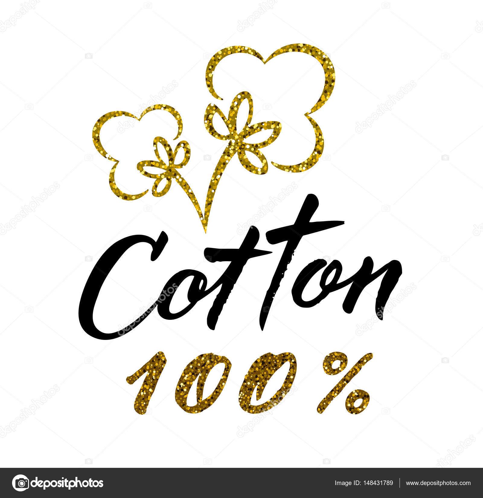 棉花100 百分号孤立在白色的背景下,矢量图– 图库插图