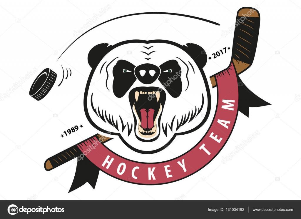 how to draw a hockey team logo