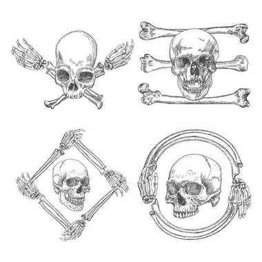 Set of Skulls crossbones