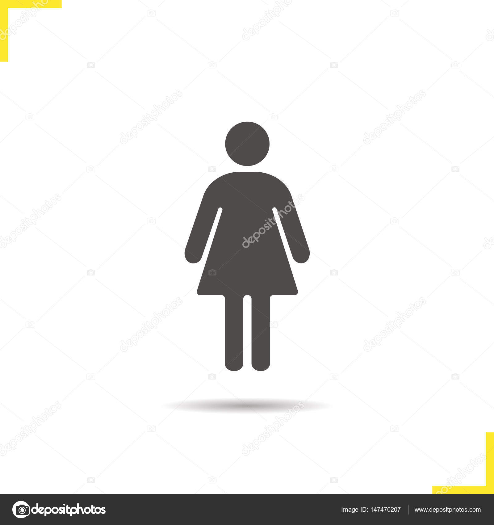 Woman icon silhouette