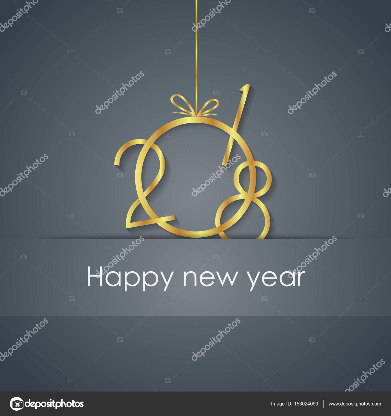 邀请,节日海报 2018年新年快乐背景