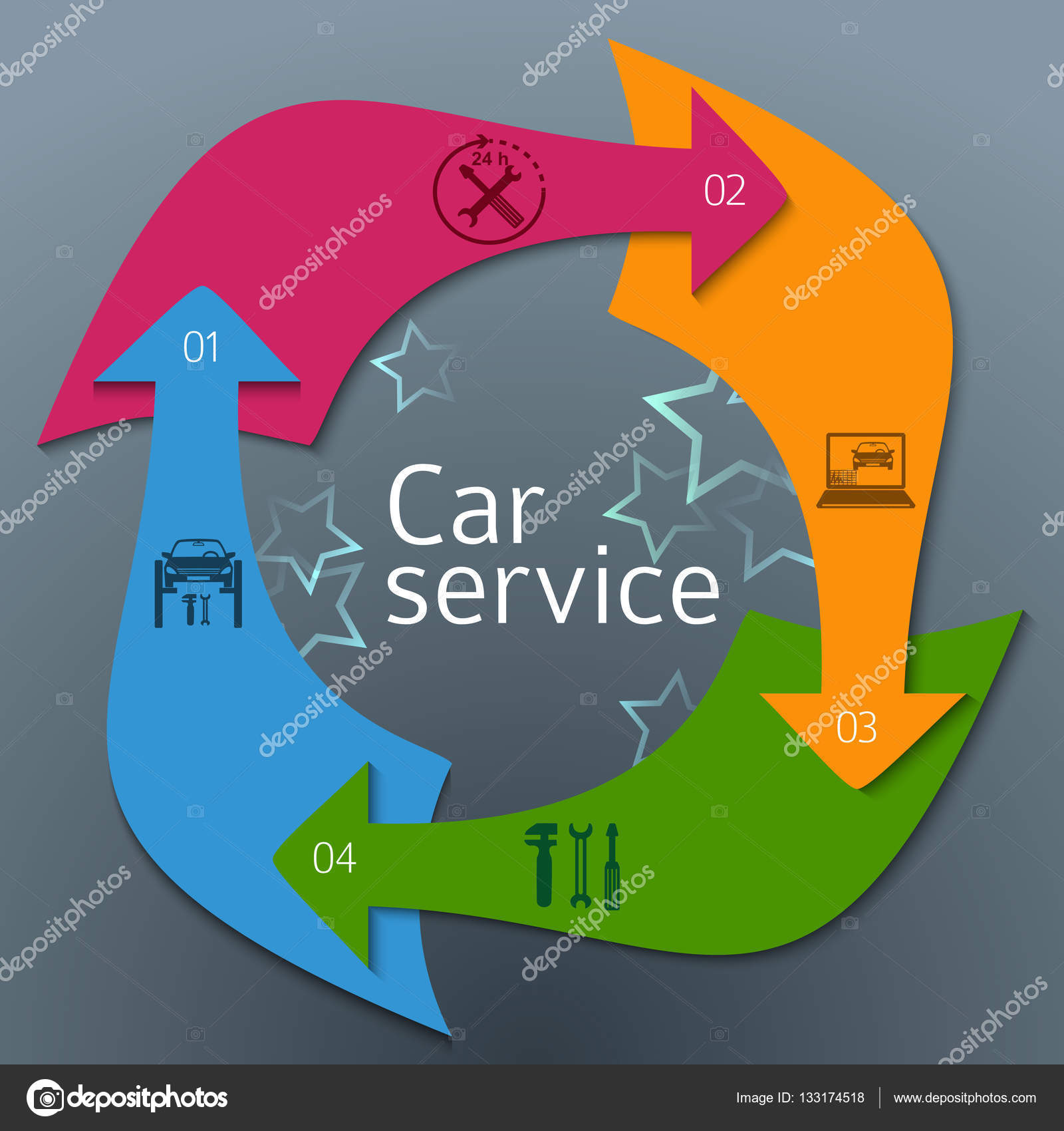 car services cover page booklet arrows concept06 stock vector auto service and car repair background icons designelements on vertical rectangular banner modern business presentation templatefor car newsletter