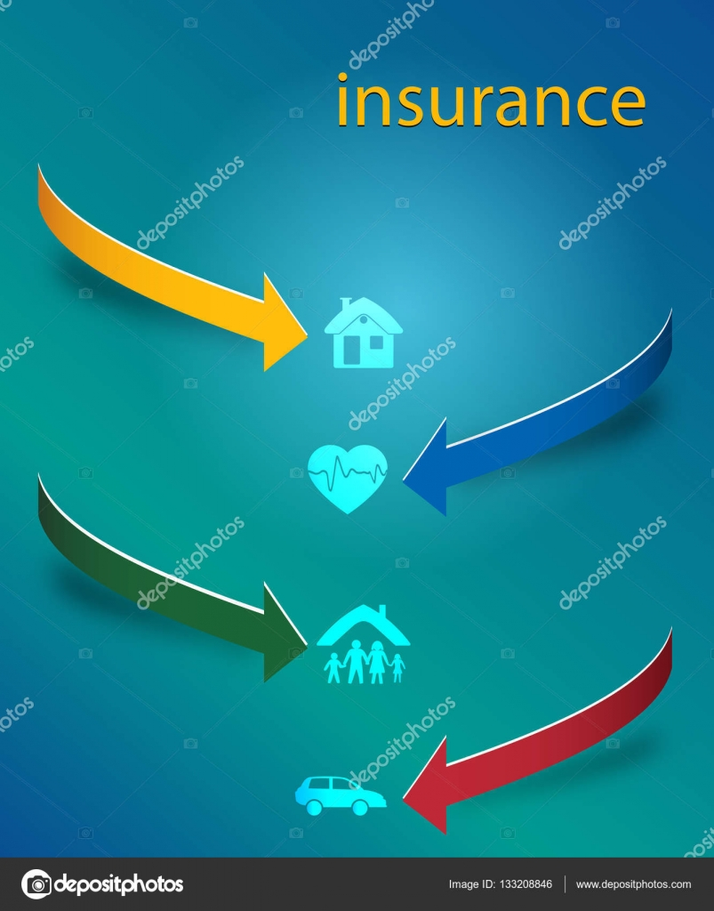 insurance services cover page booklet arrows concept01 stock design elements business presentation on circle arrow icons insurance vector illustration eps 10 for infographics style background business service