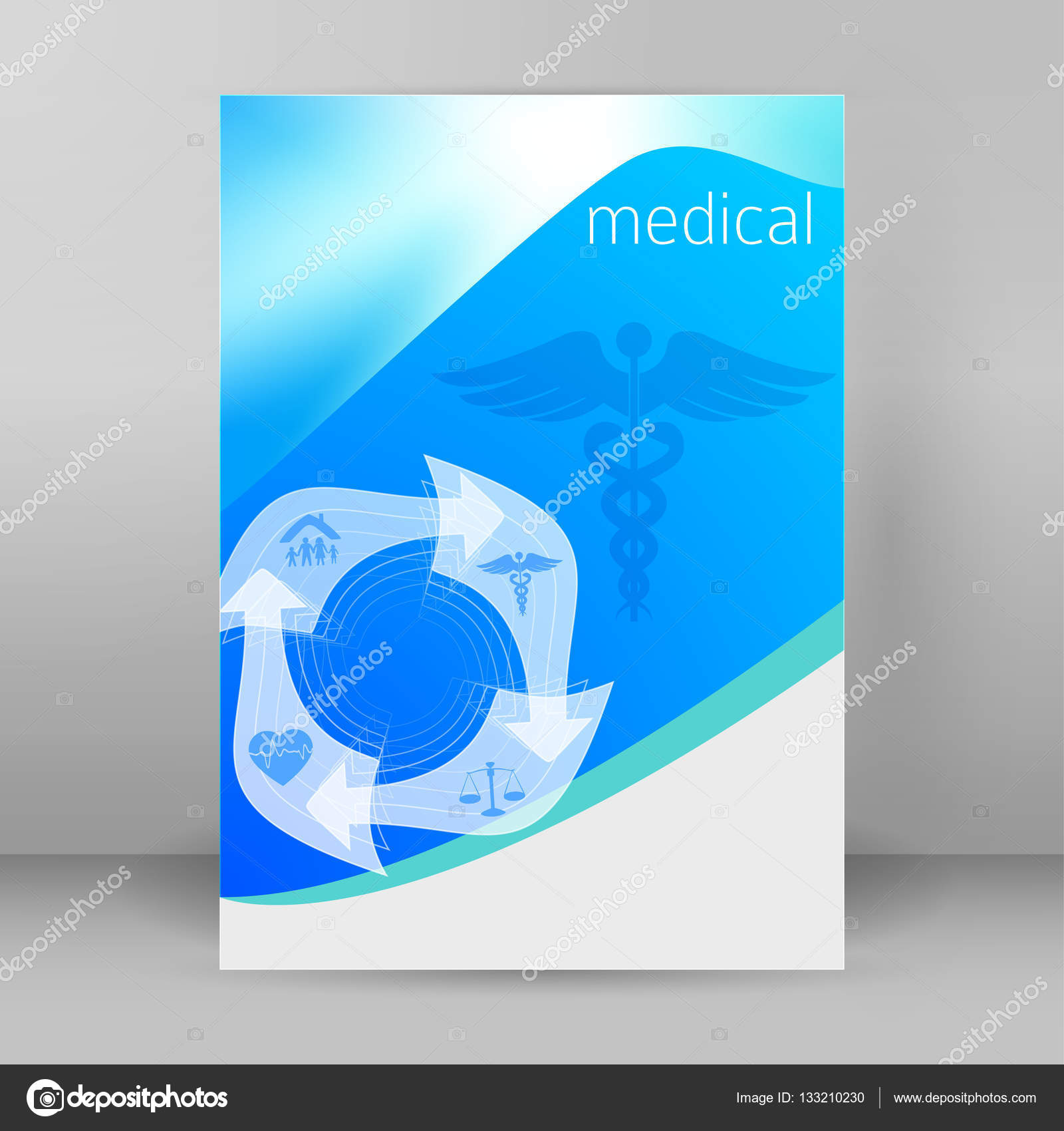 medicine cover page leaflet advertising report03 stock vector blue medical background abstract concept health care or medicine technology vector illustration eps 10 graphic design elements vertical banner