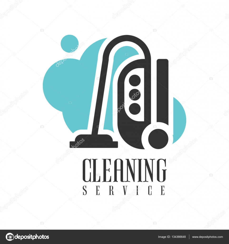 House And Office Cleaning Service Hire Logo Template With