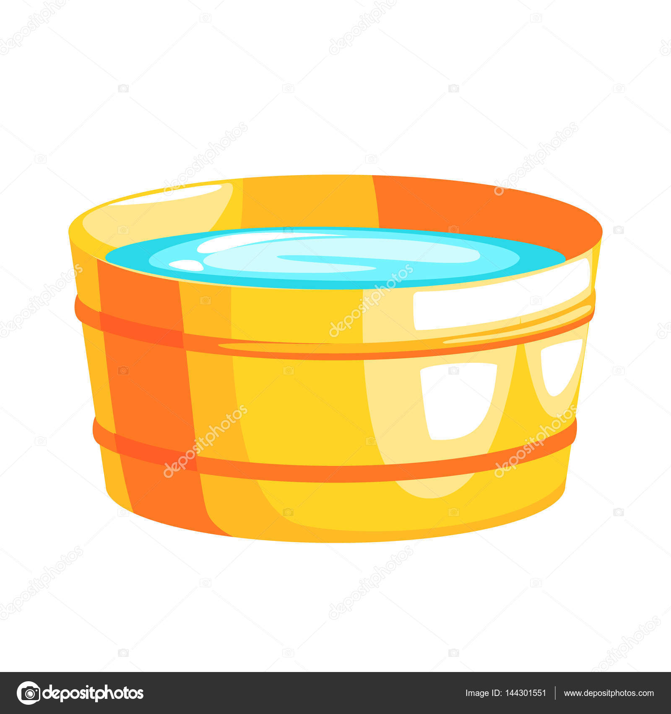 Латунные ведро с водой, частью русский паровой дом серии ...