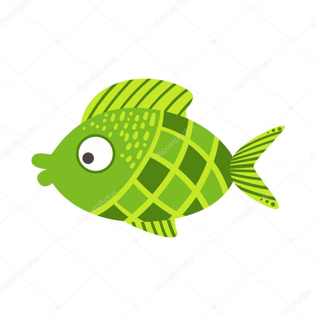 Green fish clipart