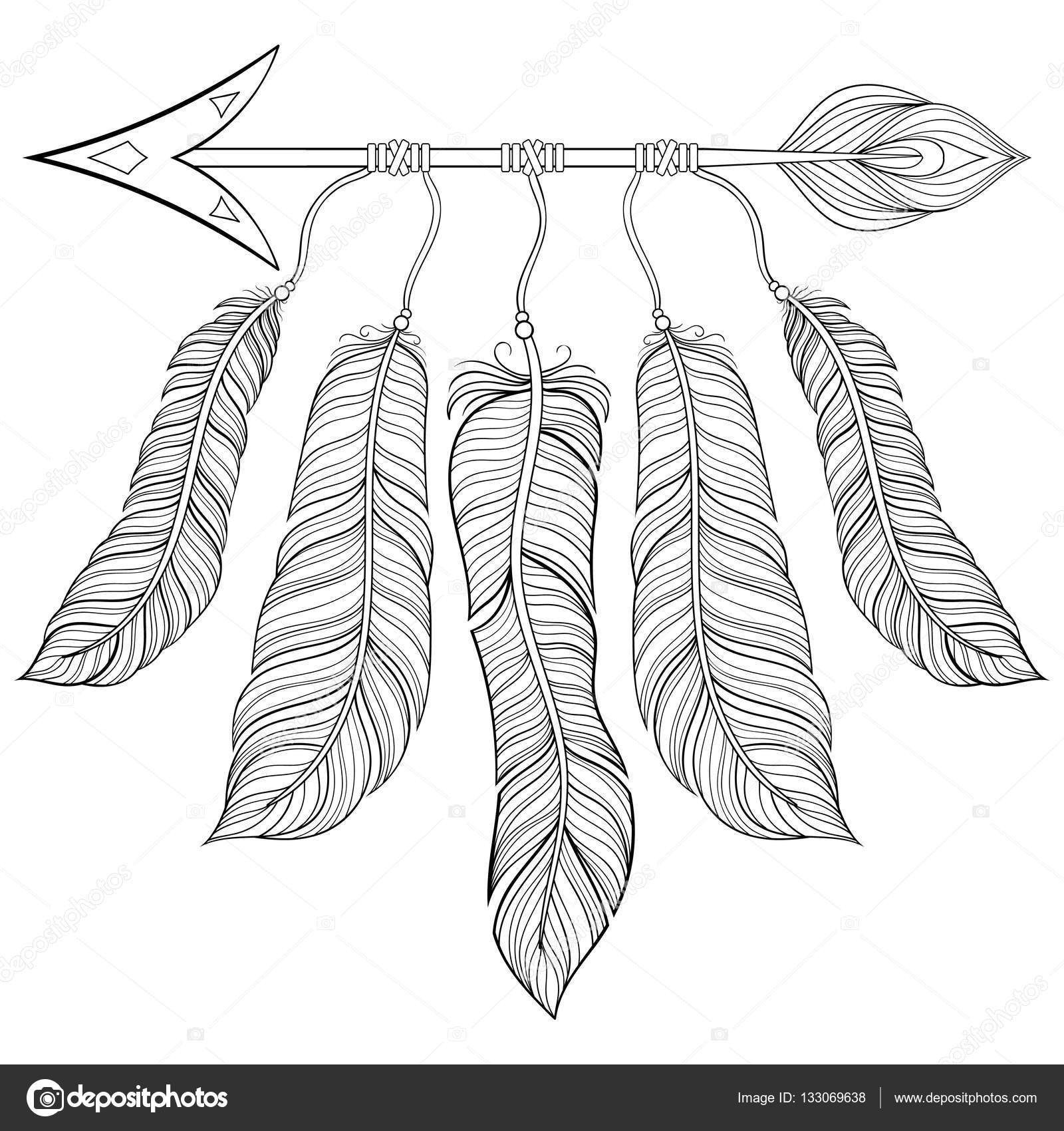 Coloring Pages Of Feathers Beautiful Beauty Black Decoration Design Doodle Drawing Drawn Dream
