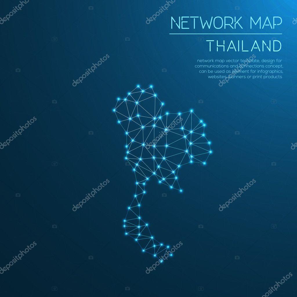 泰国网络地图 — 图库矢量图像08