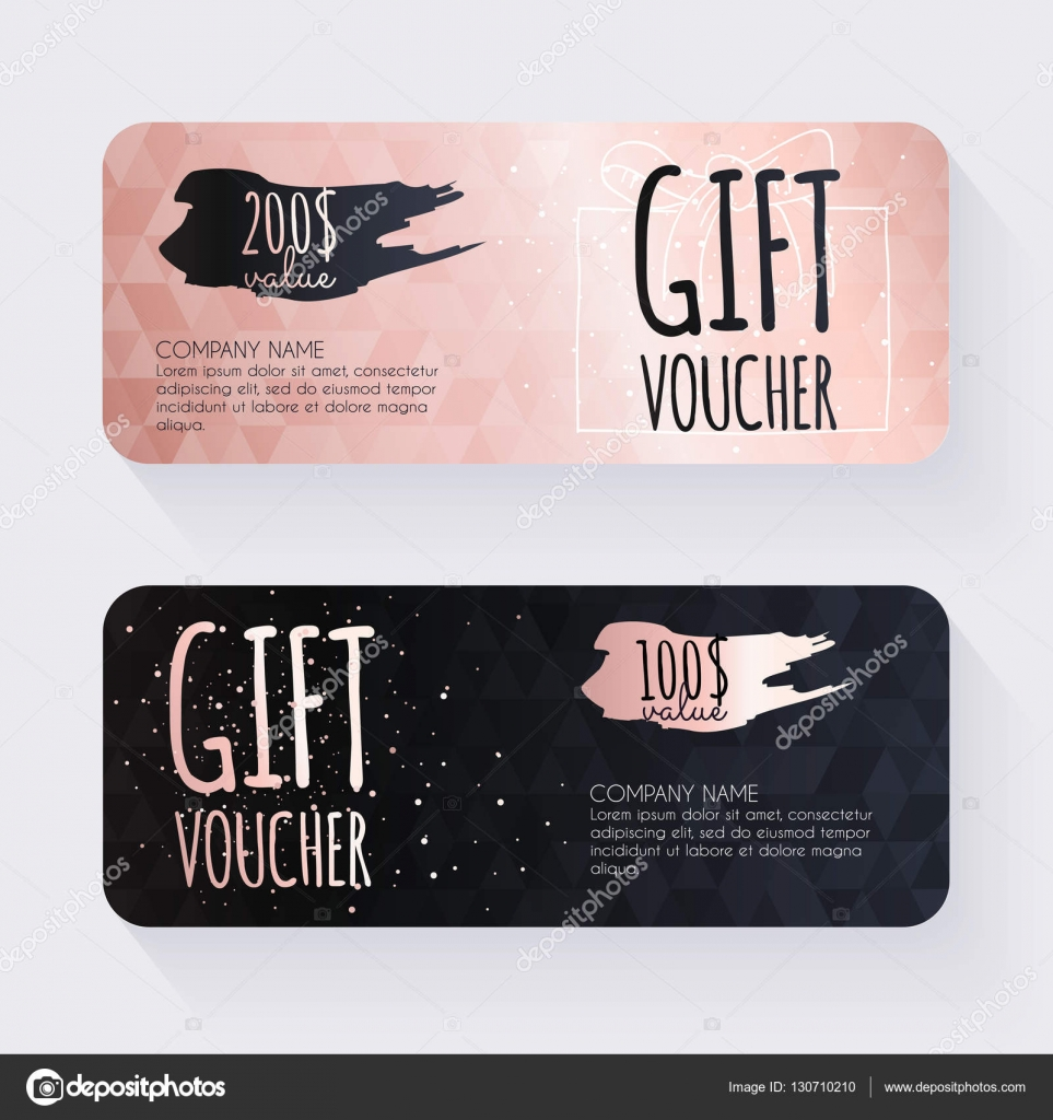 Gift voucher certificate template Vector GapchukOlesia – Gift Voucher Certificate Template