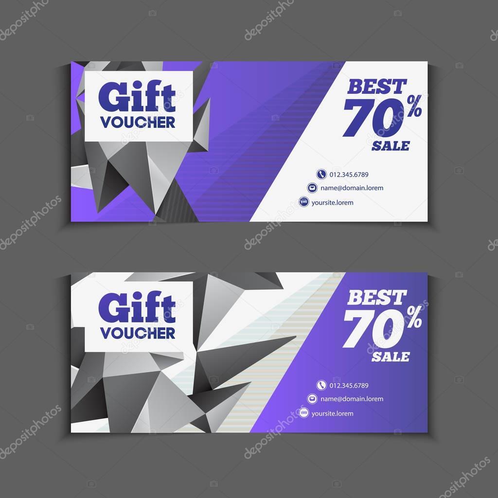 Design of discount card - Gift Or Discount Vouchers Design Stock Vector 129646852