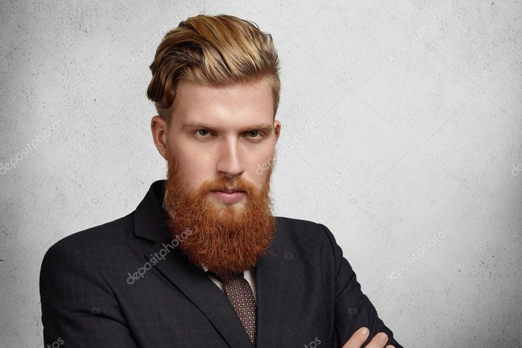 Enjoyable Headshot Of Good Looking Young Corporate Worker With Trendy Short Hairstyles Gunalazisus
