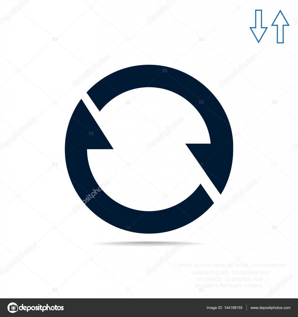 旋转圆 web 图标中的箭头.矢量设计– 图库插图