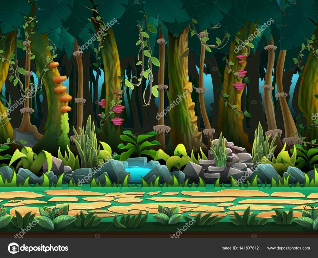Animated jungle background