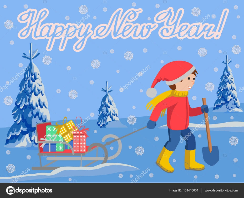 Новогодний мультик поздравление