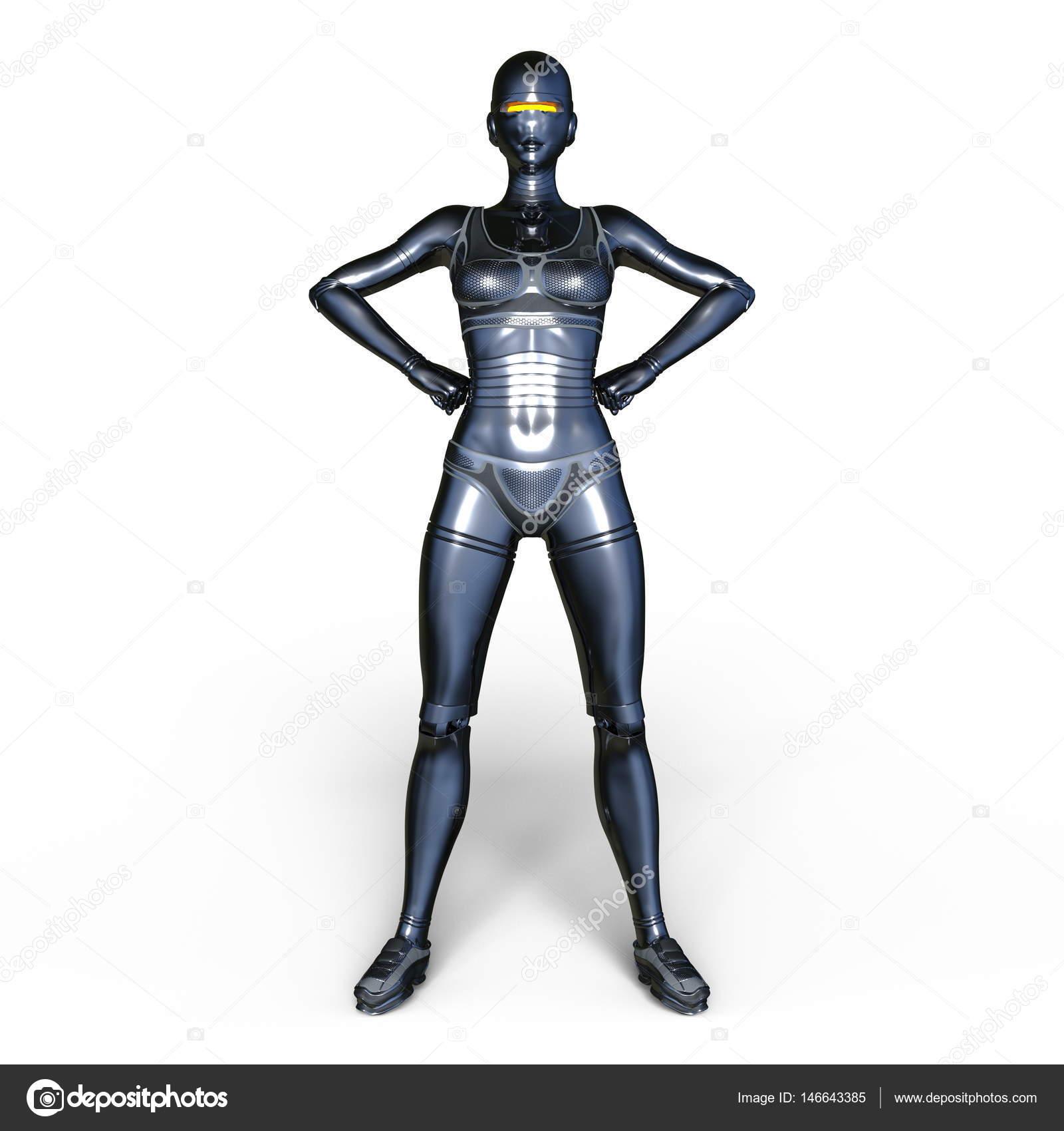女机器人形象– 图库图片
