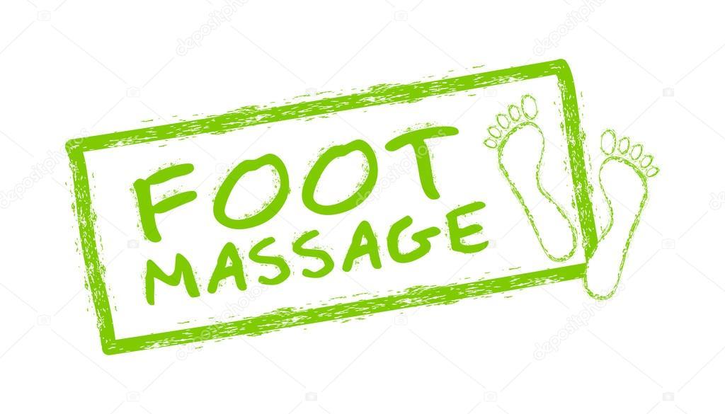 Foot massage symbol. Foot massage stamp. Reflexology. Stock vector ...