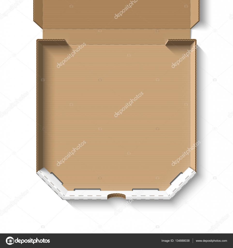 Open empty pizza box — Stock Vector © Alhovik #134888038