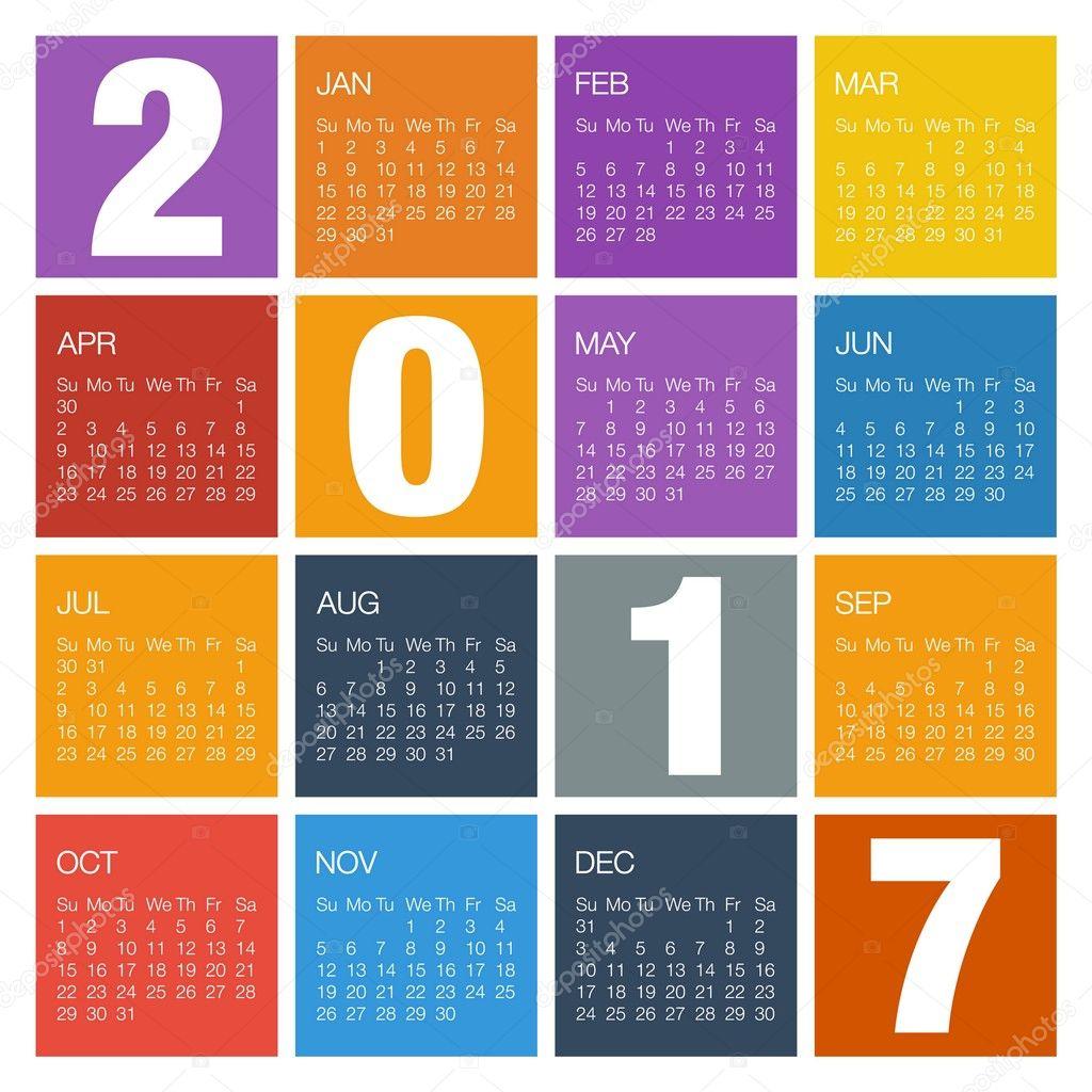 Illustration Calendar Design : Calendar design sk for year — stock