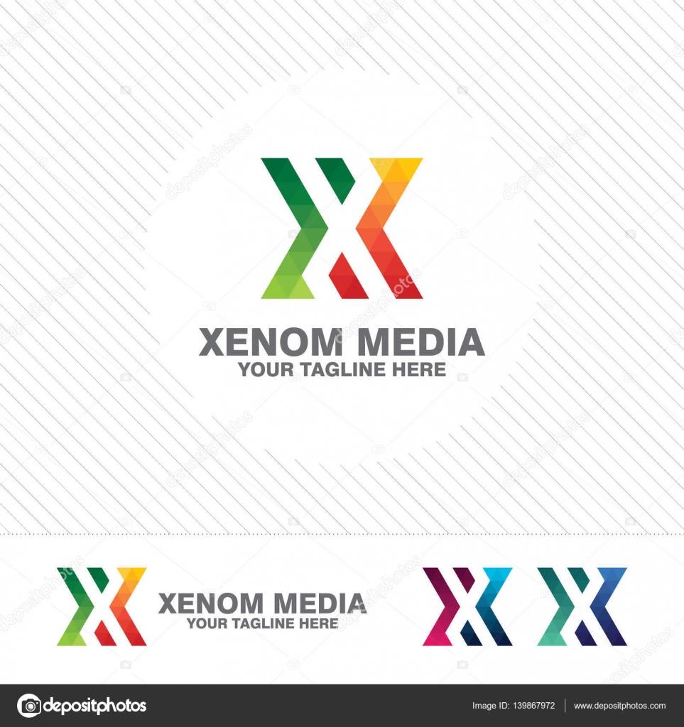 Letter x logo design Vector  Free Download