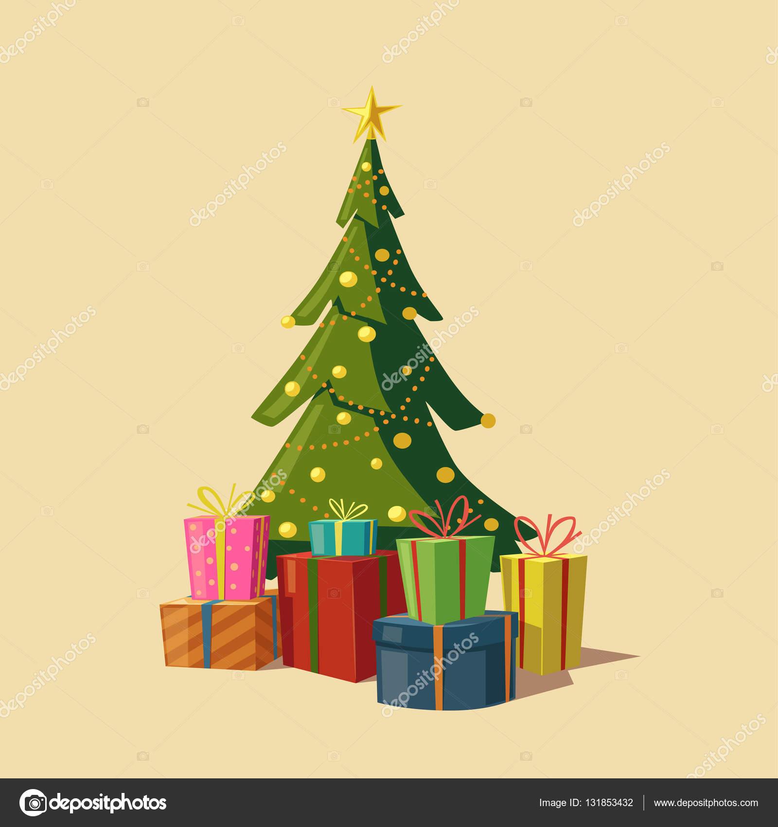 Нарисовать подарки под ёлкой