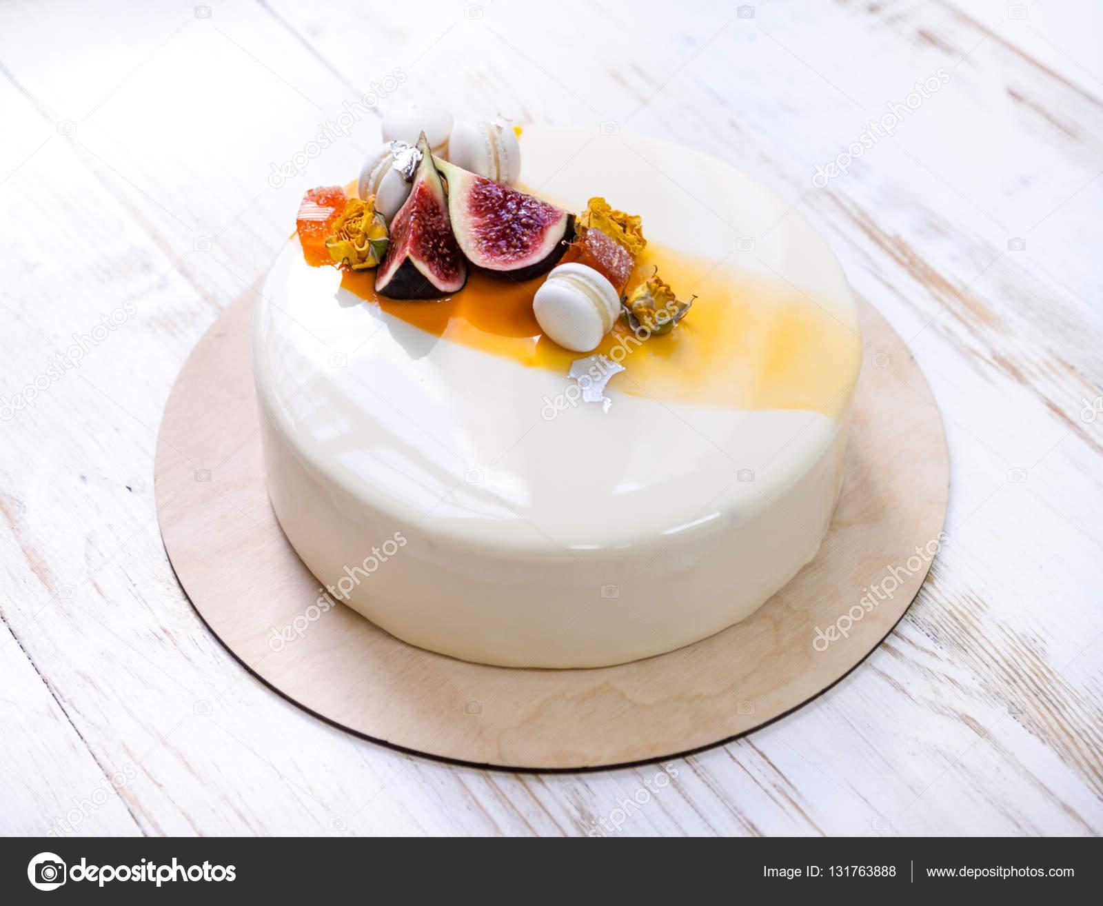 Orange Mirror Cake