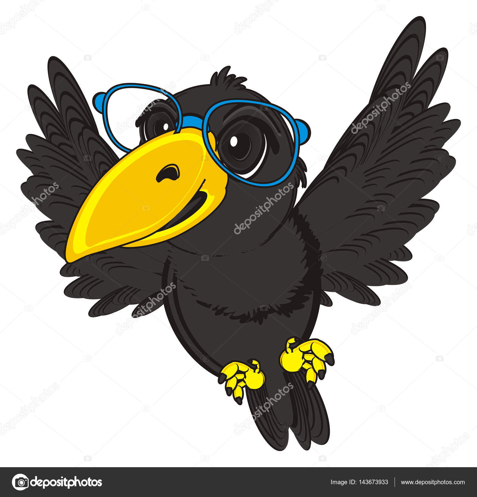 可爱的黑乌鸦 — 图库照片08tatty77tatty#143673933