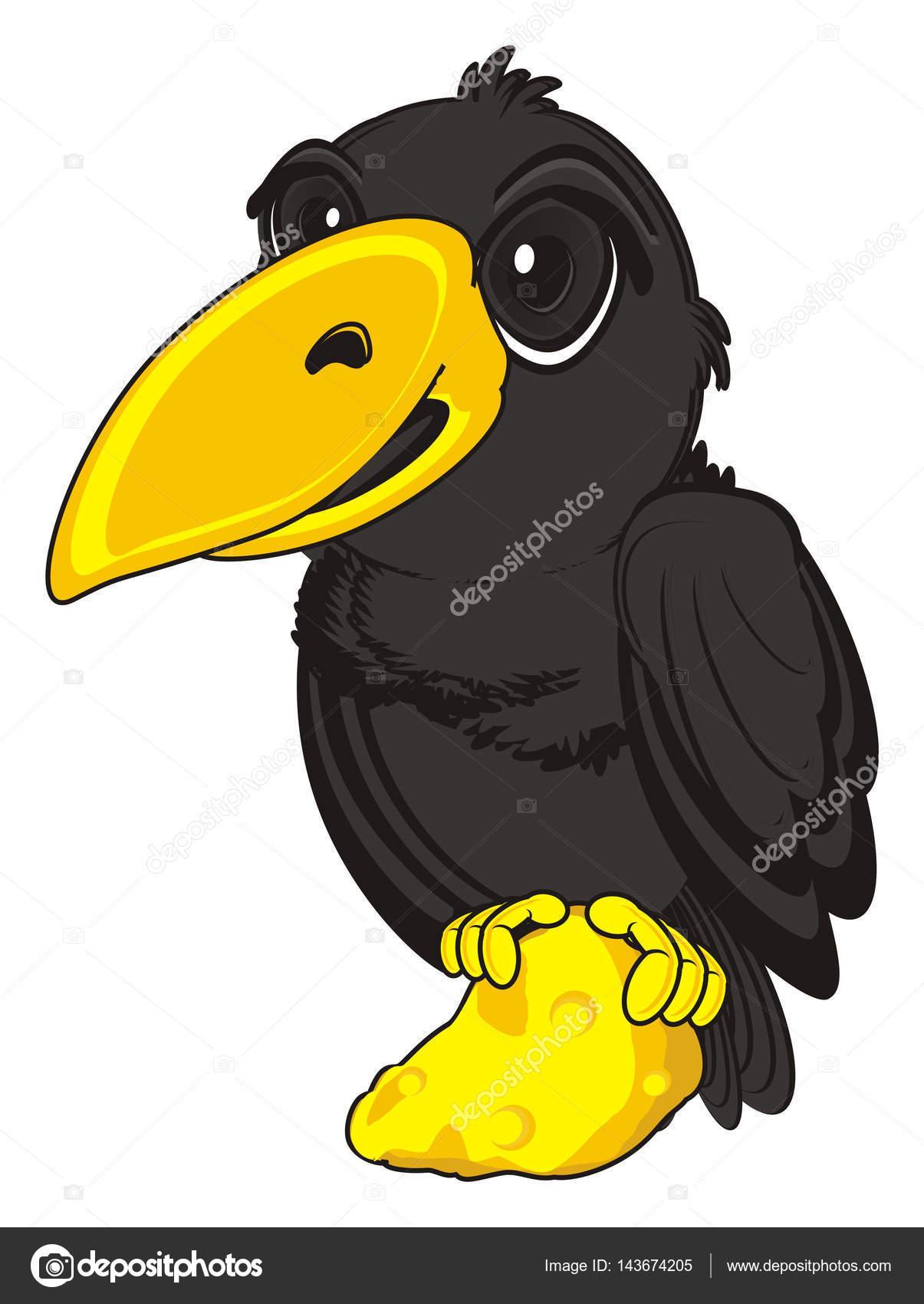 可爱的黑乌鸦 — 图库照片08tatty77tatty#143674205
