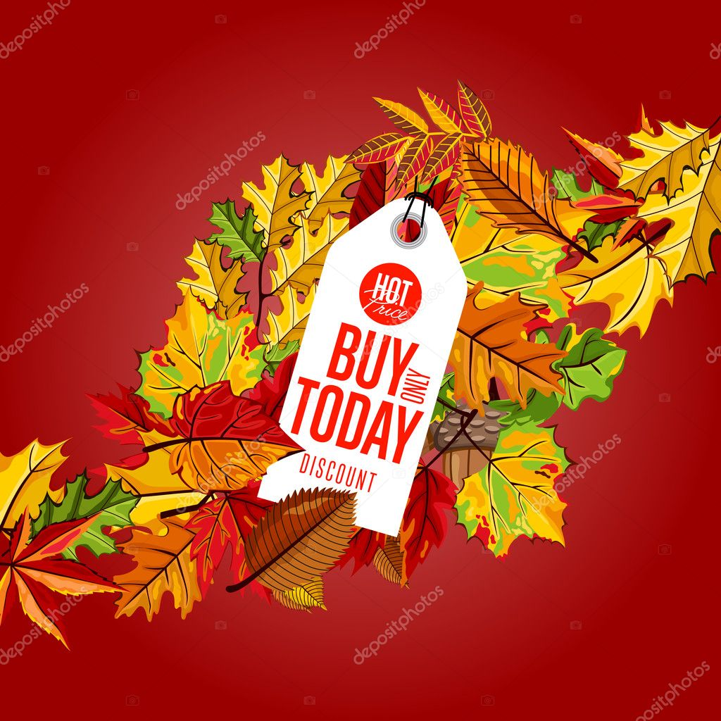 Buy Only Today Hot Price Label On Red Background With Colorful Autumn  Leaves White Price Tag Utrade Philippine Stock Market Free