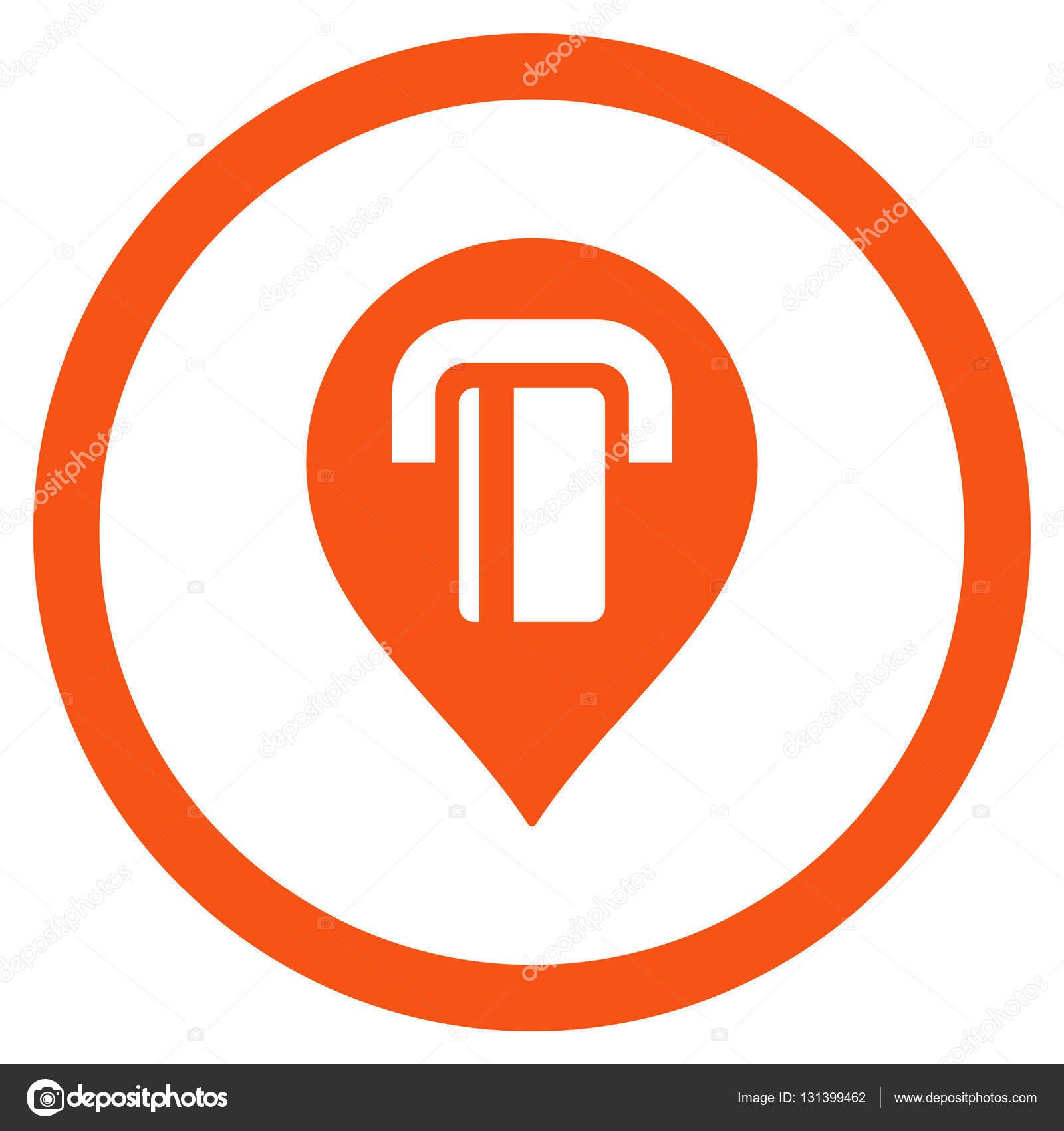 符号内圈,橙色的颜色,白色背景