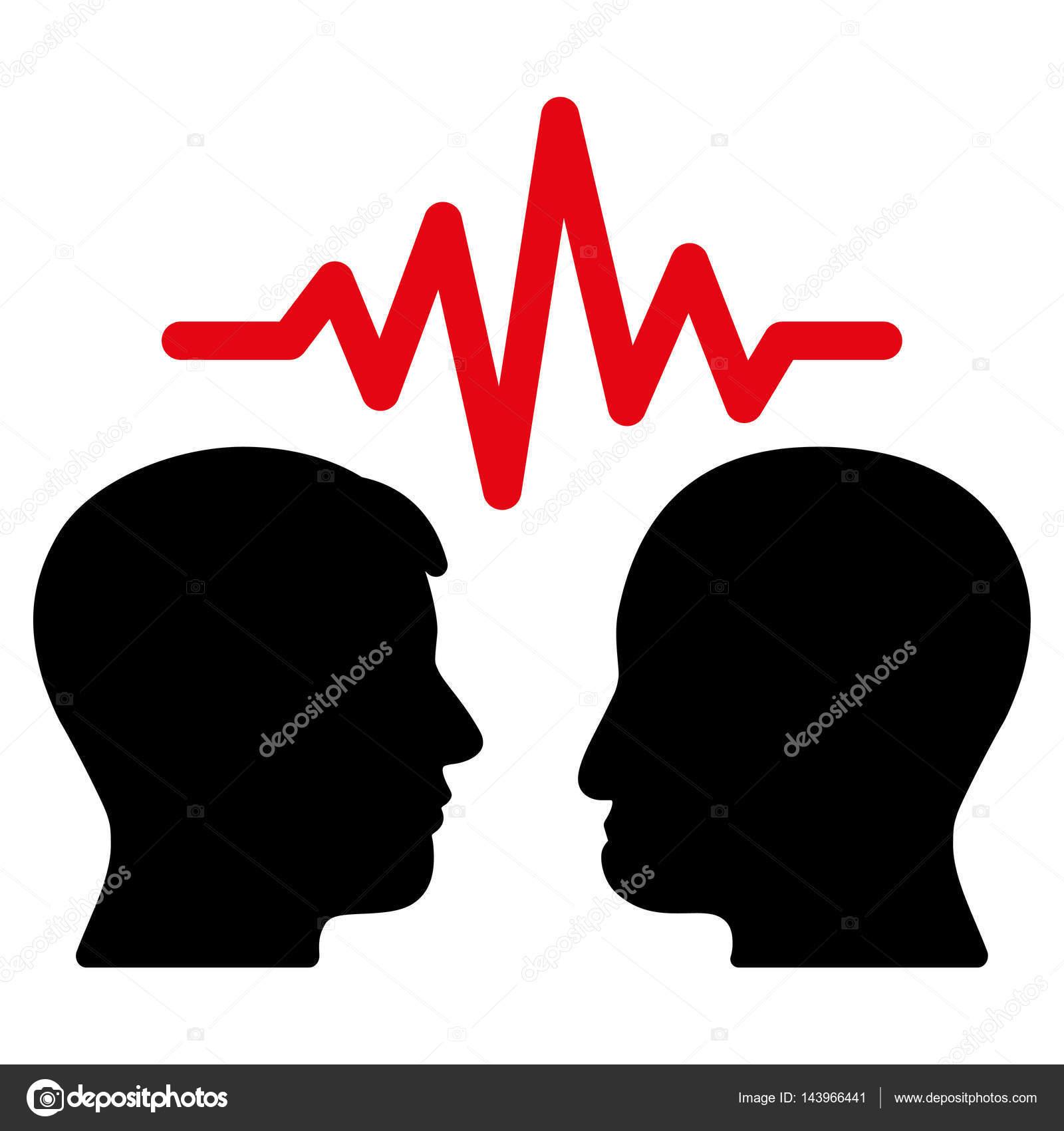 用户对话框信号矢量图标.平双色密集的红色和黑色象征.