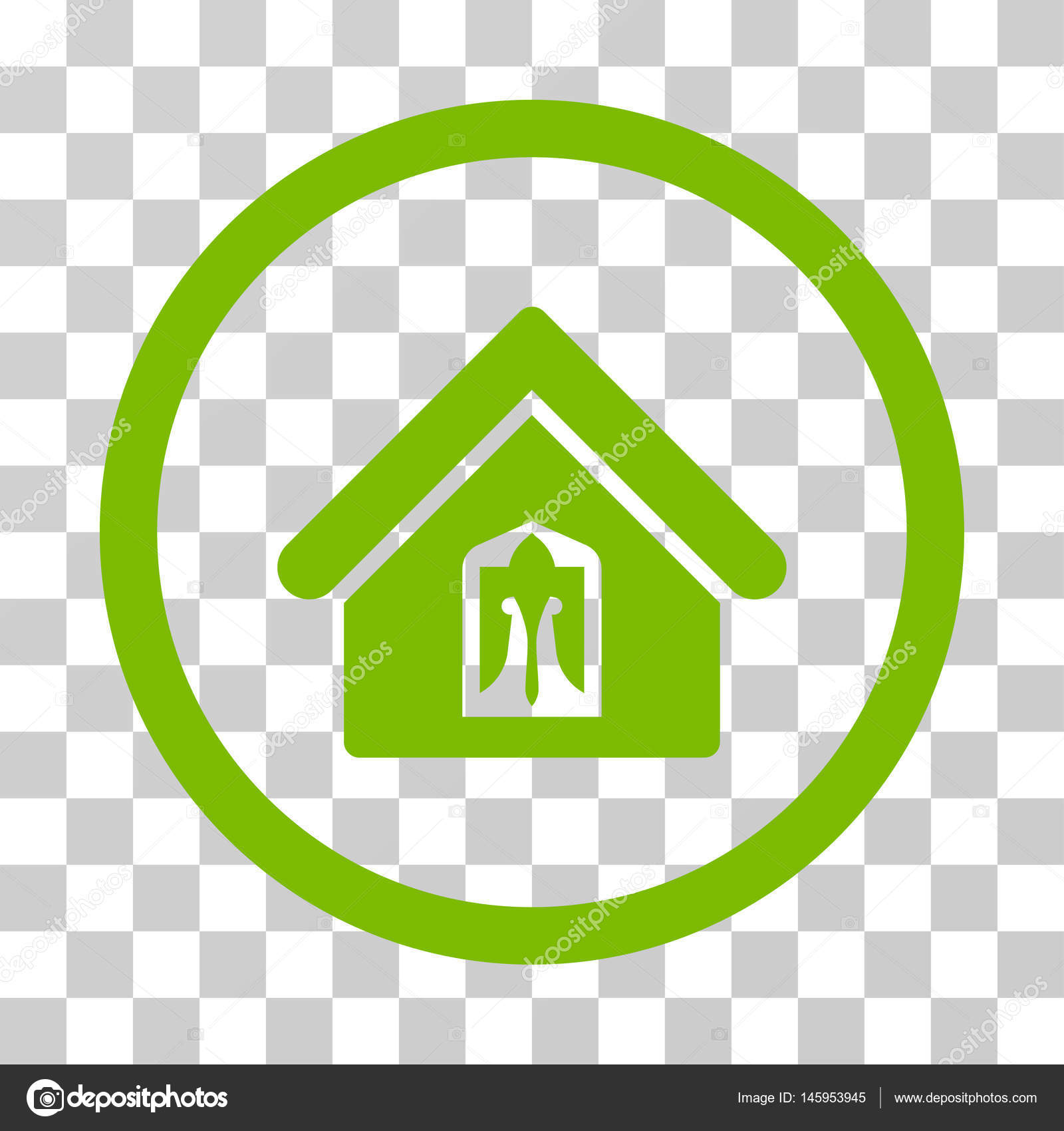 主页图标.矢量插画风格是平标志性符号, 生态绿色颜色, 透明背景.