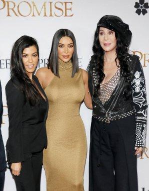 Kim Kardashian West, Cher and Kourtney Kardashian