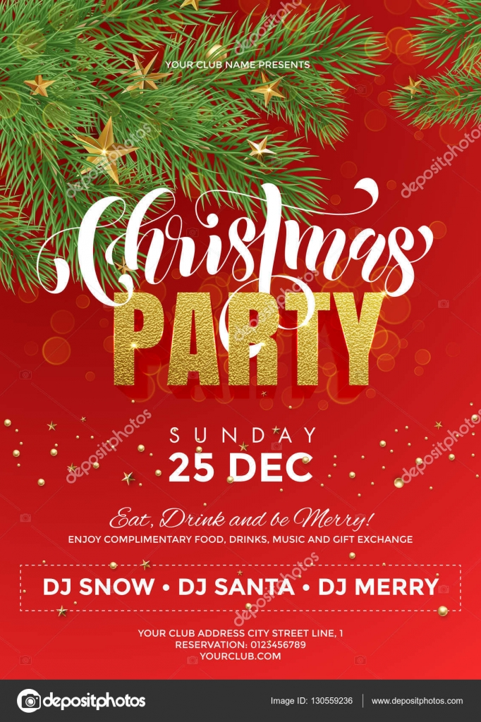 Christmas Party red flyer template Vector ronedale – Red Flyer Template