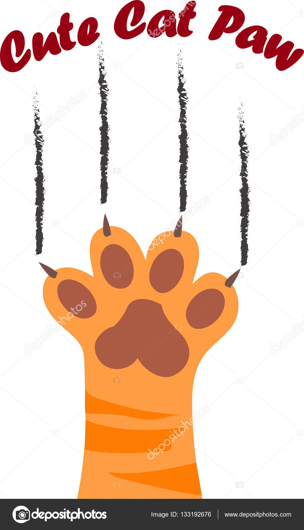 cat paw print with claws stock vector  u00a9 stellal 133192676 paw print vector image paw print vector art