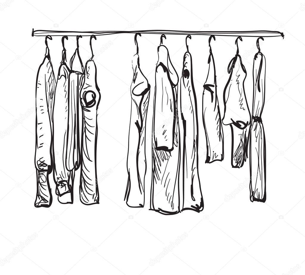 Kleiderschrank gezeichnet  Schrank Gezeichnet