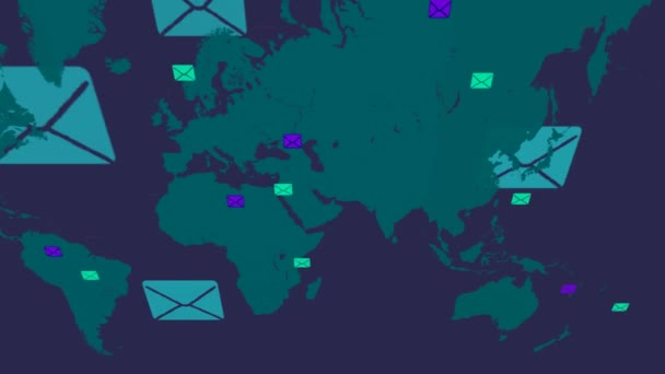 Emails background - world moving from right to left - vector ...