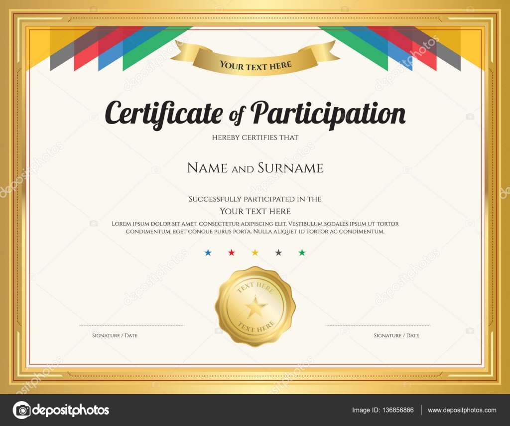 Free Participation Certificate Templates For Word Free Word Certificate Template Participation Certificate