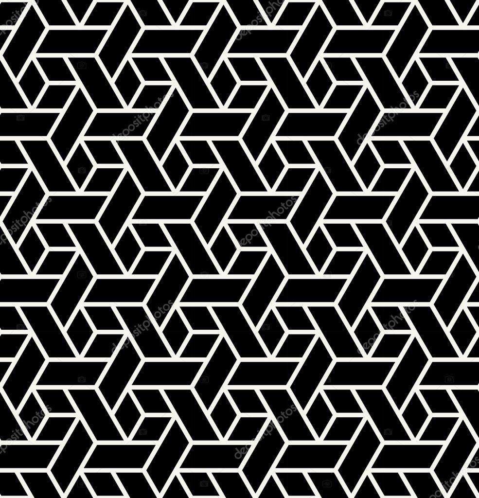 Patrón de impresión diseño gráfico blanco y negro