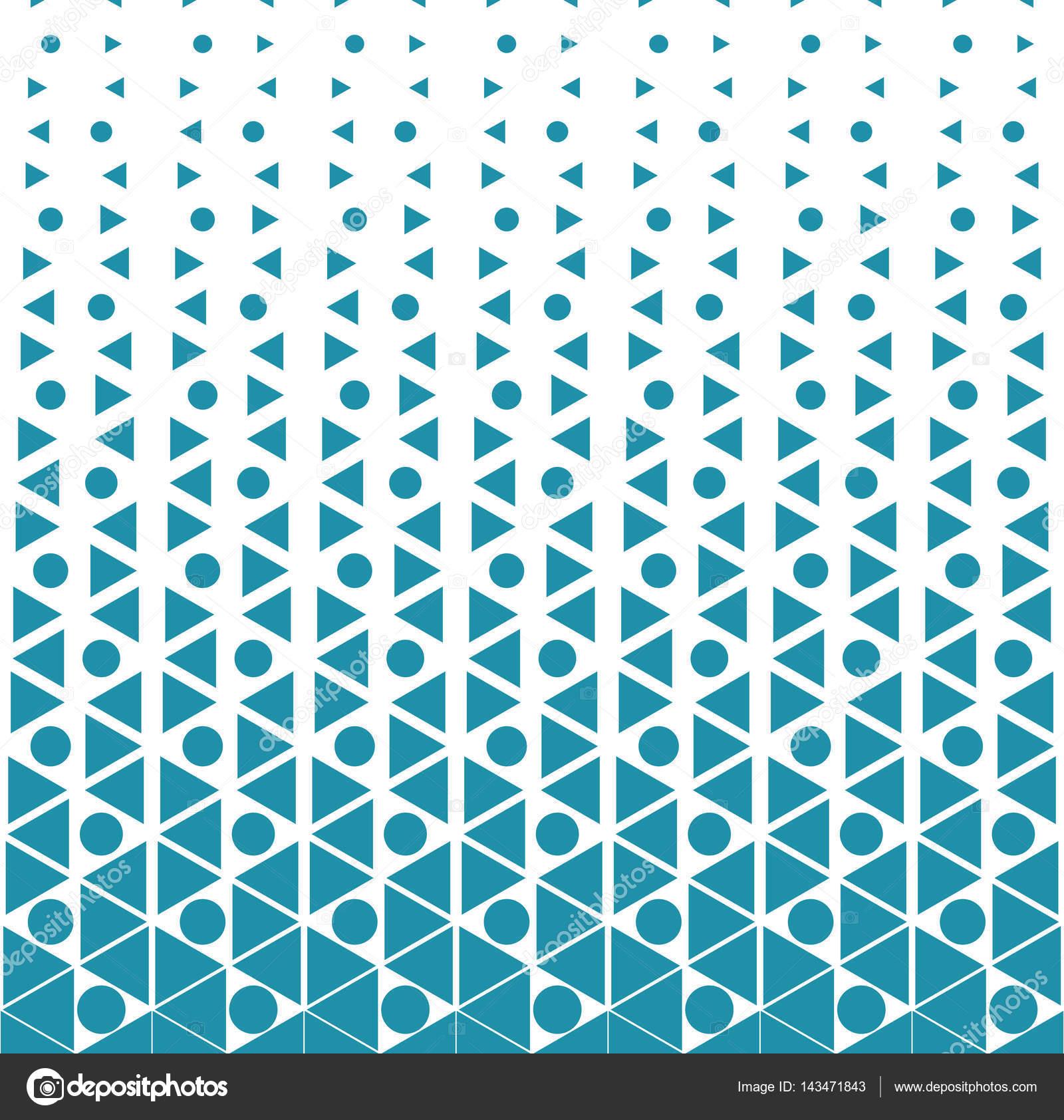 抽象几何半色调三角形渐变图案背景 — 图库矢量图片#143471843