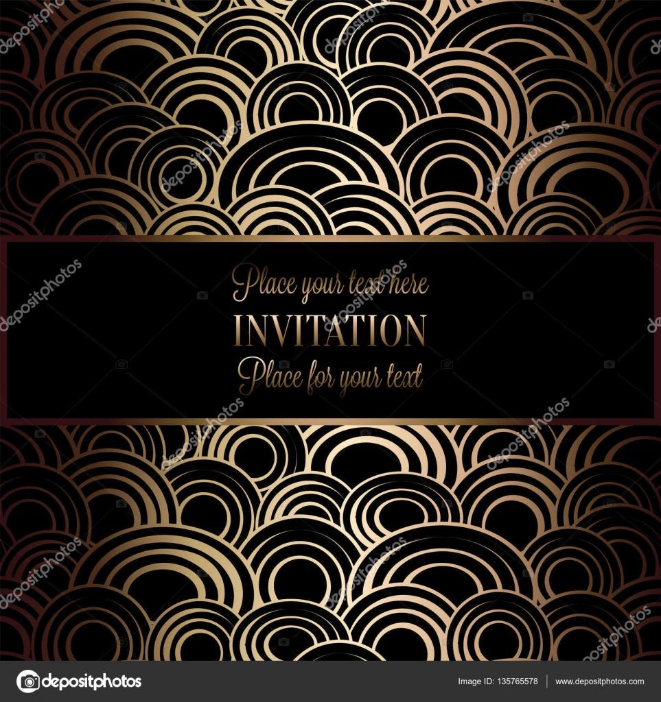 Abstrakt Hintergrund Mit Antik Luxus Schwarz Und Gold