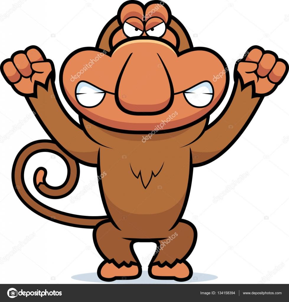 Angry monkey cartoon drawings