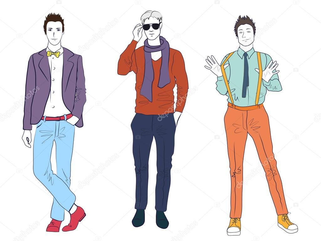 Рисунок стильного мужчины