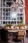 herzstück-tabelle eingerichtet — stockfoto © ivash #100573214, Esszimmer dekoo