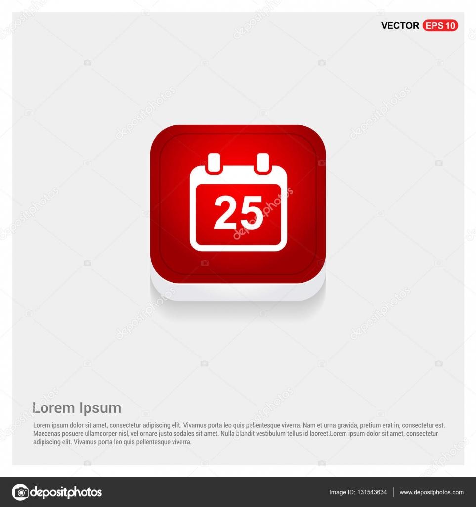 Date 25 calendar icon ...