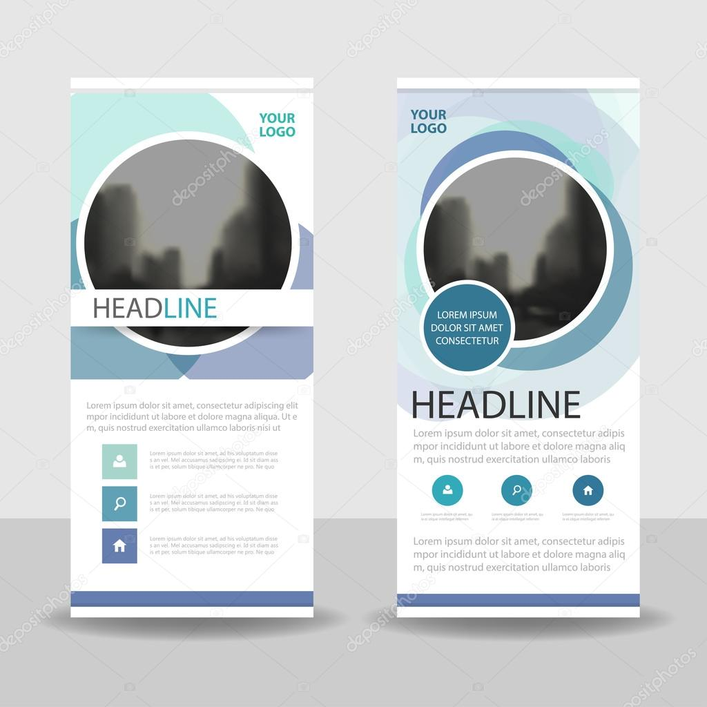 blue purple circle business roll up banner flat design template blue purple circle business roll up banner flat design template abstract geometric banner template vector illustration set abstract presentation brochure