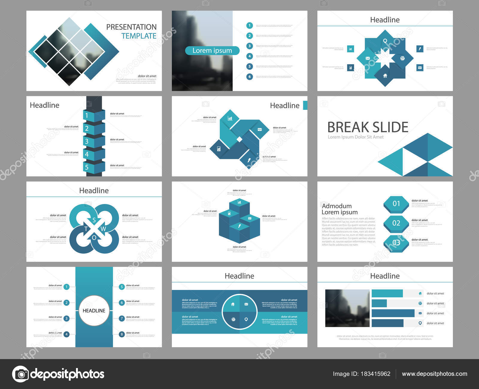magazine presentation template image collections