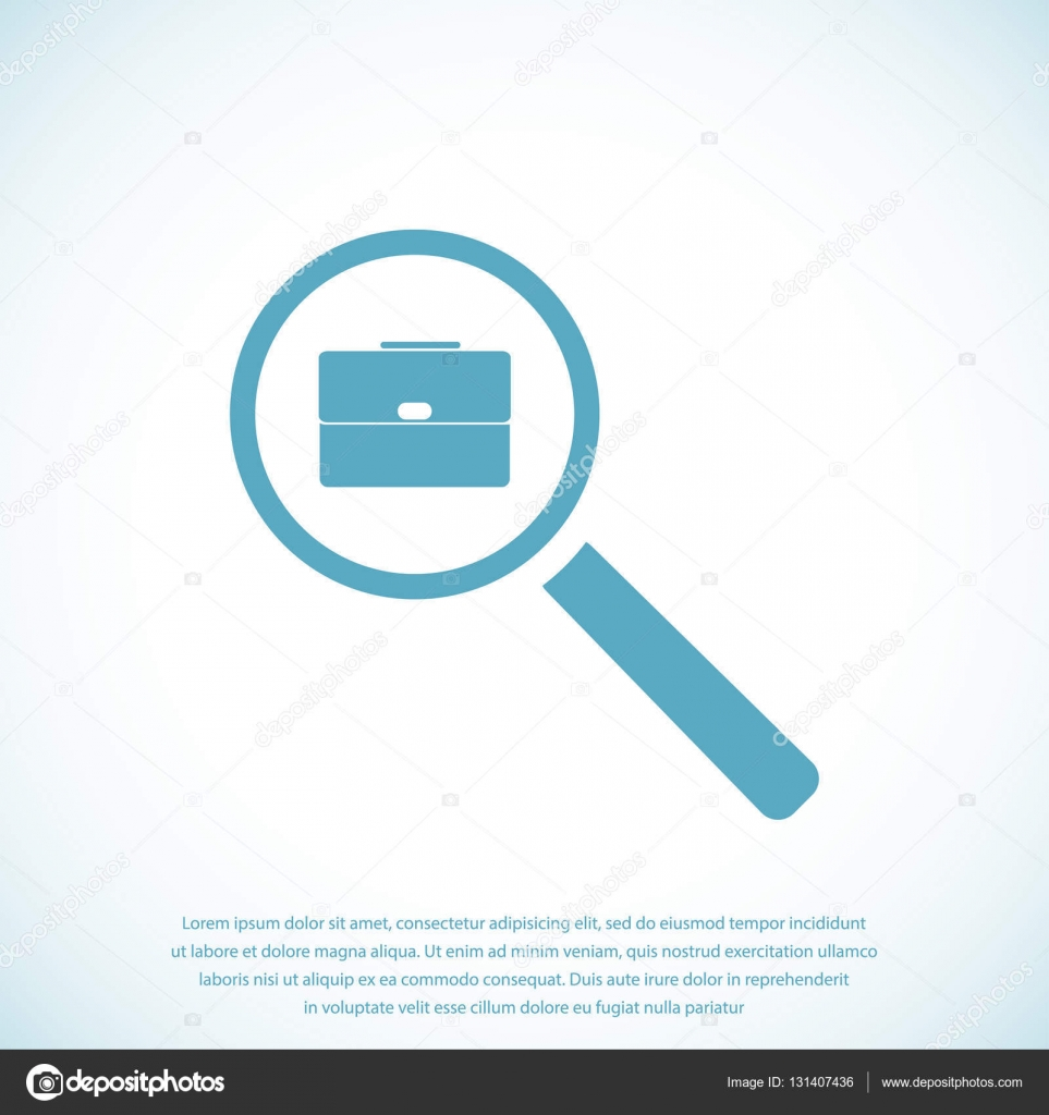 search job web icon stock vector © simva 131407436 search job web icon stock vector 131407436