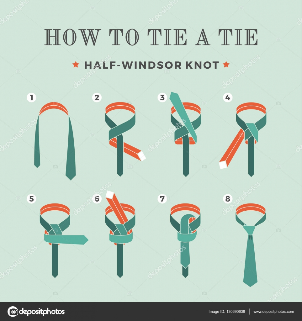 How to wear a tie step by pictures Customers Rides Feedback - M