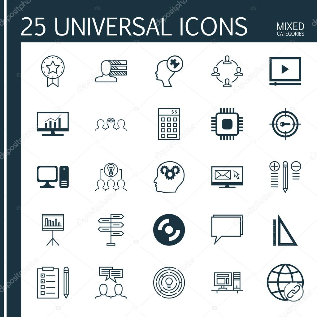 set of 25 universal icons on market research human mind personal set of 25 universal icons on market research human mind personal skills and more